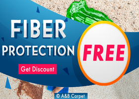 Free Fiber Protection for All Cleaning - A and B Carpet